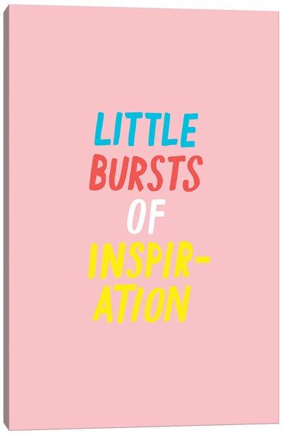 Little Bursts Of Inspiration Canvas Art Print