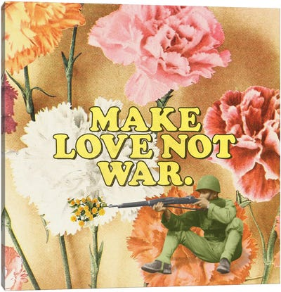 Make Love Not War Canvas Art Print