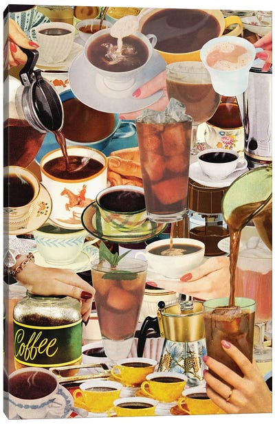 Wake Up And Smell The Coffee Canvas Art Print