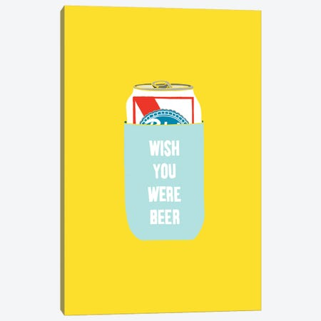 Wish You Were Beer Canvas Print #JWK26} by Julia Walck Canvas Artwork