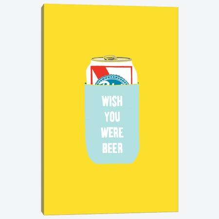 Wish You Were Beer Canvas Print #JWK26} by Julia Walck Canvas Artwork
