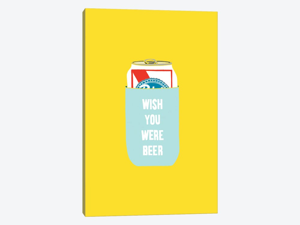 Wish You Were Beer by Julia Walck 1-piece Canvas Wall Art