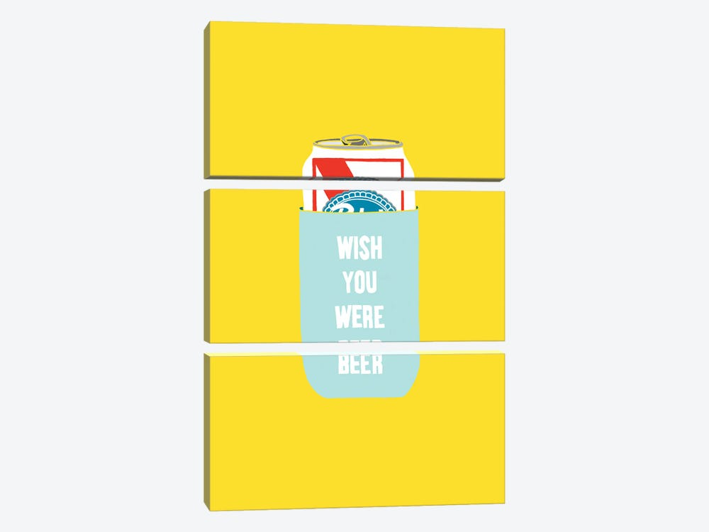 Wish You Were Beer by Julia Walck 3-piece Canvas Art