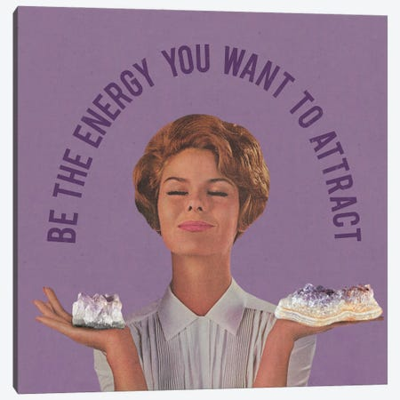 Be The Energy 3-Piece Canvas #JWK31} by Julia Walck Canvas Artwork
