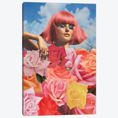 Flowerbed Canvas Print #JWK34} by Julia Walck Art Print