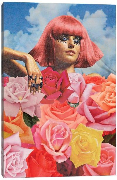 Flowerbed Canvas Art Print