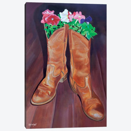 Grow Where You'Re Planted Boots Canvas Print #JWR10} by Jody Wright Canvas Art Print