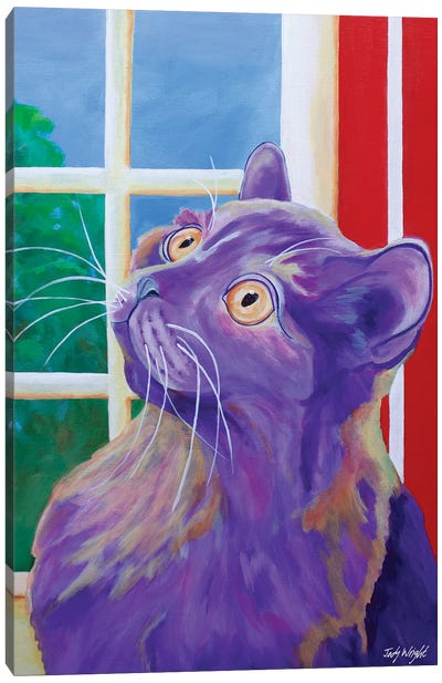 Just Outside The Window Canvas Art Print