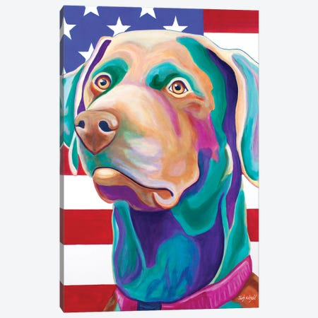 All American Canvas Print #JWR1} by Jody Wright Art Print
