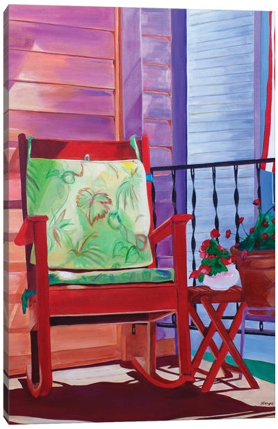 Porch Invitation Canvas Art Print