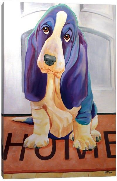 Home Sweet Home Basset Canvas Art Print