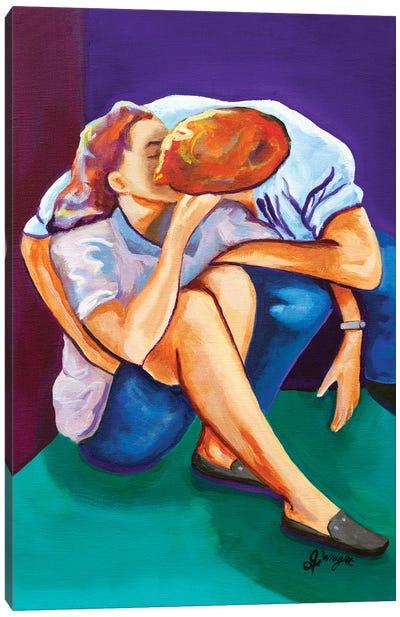 First Kiss Canvas Art Print