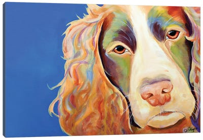 Forever Yours Spaniel Canvas Art Print