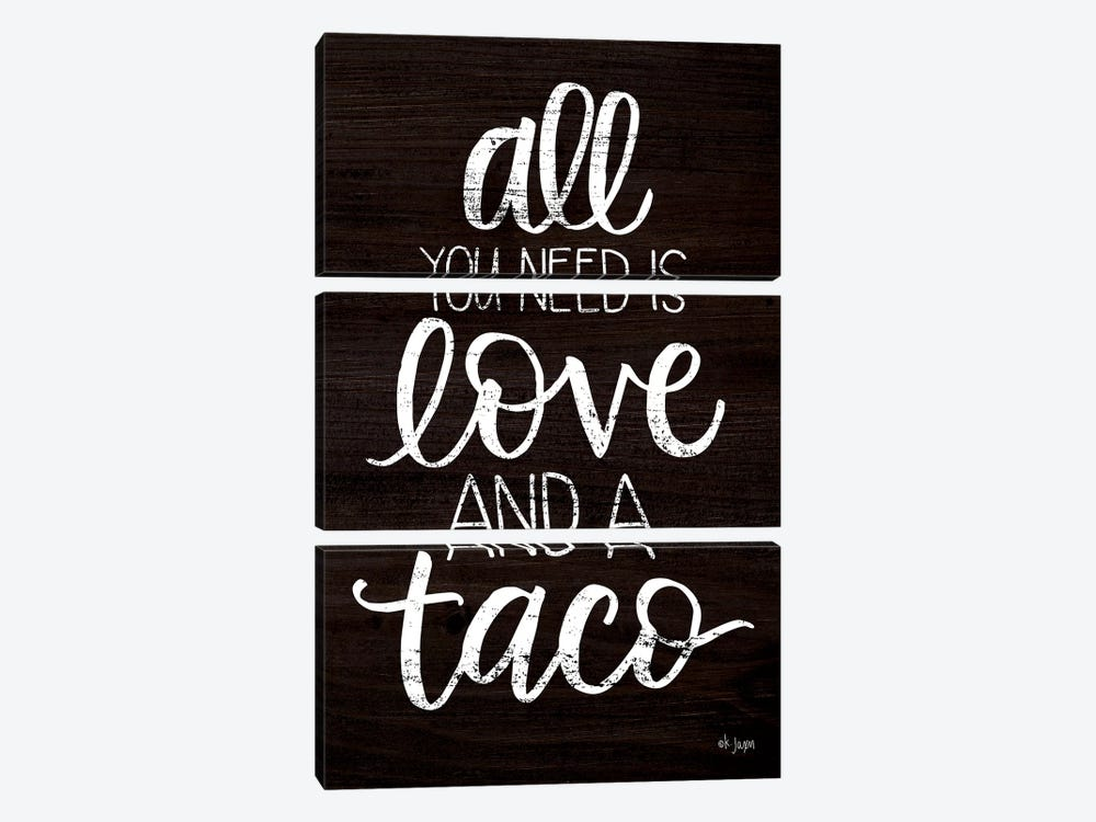 Love and a Taco by Jaxn Blvd. 3-piece Canvas Artwork