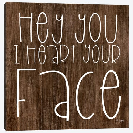Hey You I Heart Your Face 3-Piece Canvas #JXN13} by Jaxn Blvd. Art Print
