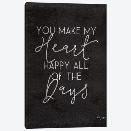 Happy Heart Canvas Print #JXN147} by Jaxn Blvd. Canvas Print