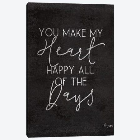 Happy Heart Canvas Print #JXN147} by Jaxn Blvd. Canvas Print
