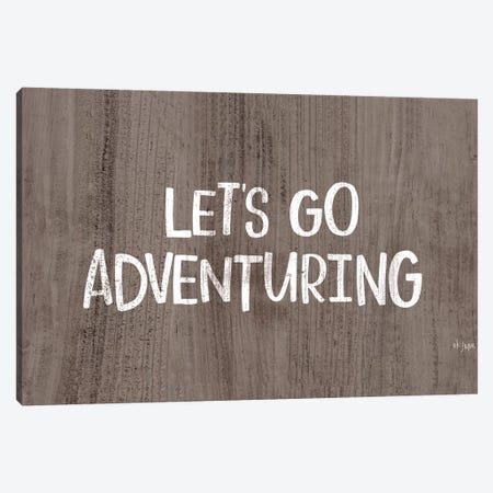 Let's Go Adventuring Canvas Print #JXN149} by Jaxn Blvd. Canvas Art