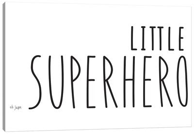 Little Superhero Canvas Art Print
