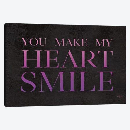 You Make My Heart Smile Canvas Print #JXN173} by Jaxn Blvd. Art Print