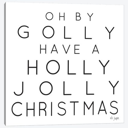 Holly Jolly Christmas Canvas Print #JXN194} by Jaxn Blvd. Canvas Art