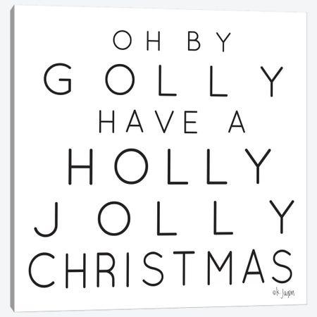 Holly Jolly Christmas Canvas Print #JXN194} by Jaxn Blvd. Canvas Art