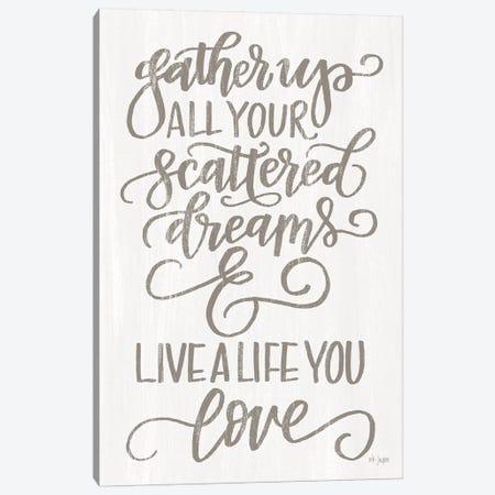 Live A Life You Love Canvas Print #JXN198} by Jaxn Blvd. Canvas Print