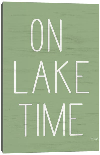 On Lake Time  Canvas Art Print