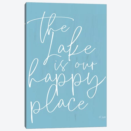 The Lake is Our Happy Place  Canvas Print #JXN201} by Jaxn Blvd. Canvas Print