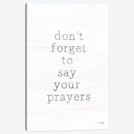 Say Your Prayers Canvas Print #JXN216} by Jaxn Blvd. Art Print