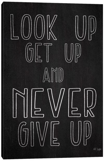 Never Give Up by Jaxn Blvd. Canvas Art Print