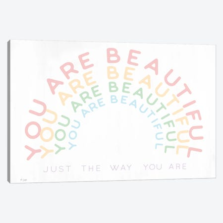 You Are Beautiful Canvas Print #JXN226} by Jaxn Blvd. Canvas Artwork