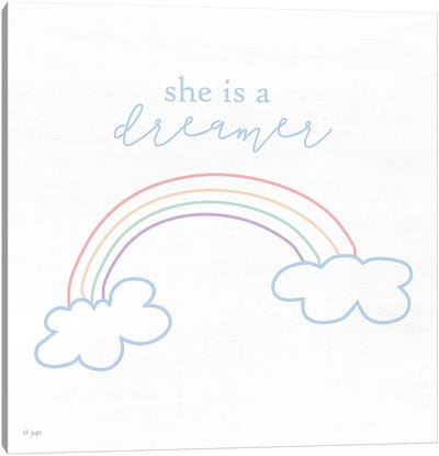 She is a Dreamer Canvas Art Print