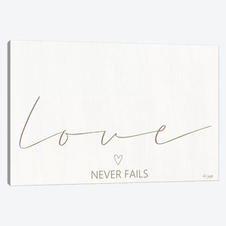 Love Never Fails Canvas Print #JXN24} by Jaxn Blvd. Canvas Art Print