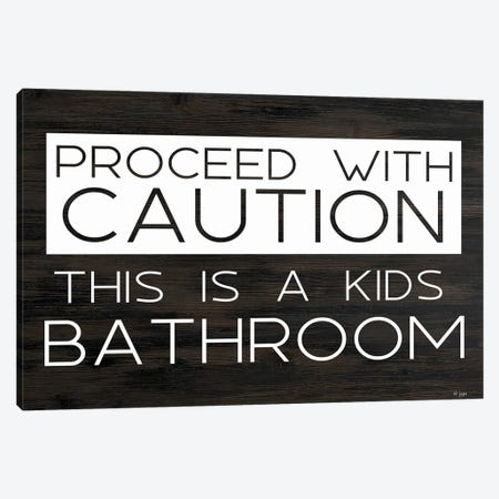 Kid's Bathroom Canvas Print #JXN257} by Jaxn Blvd. Art Print