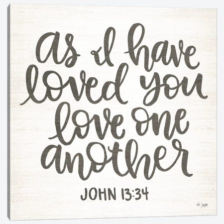 Love One Another Canvas Print #JXN25} by Jaxn Blvd. Art Print
