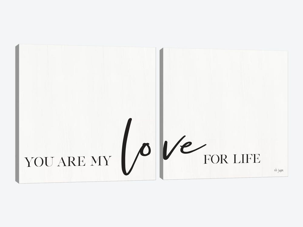 You Are My Love For Life by Jaxn Blvd. 2-piece Canvas Art Print