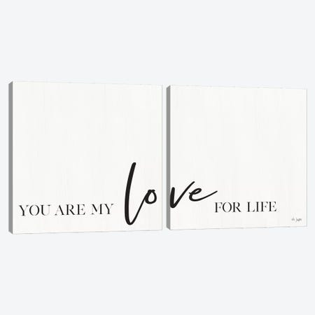 You Are My Love For Life Canvas Print Set #JXN2HSET002} by Jaxn Blvd. Canvas Art Print