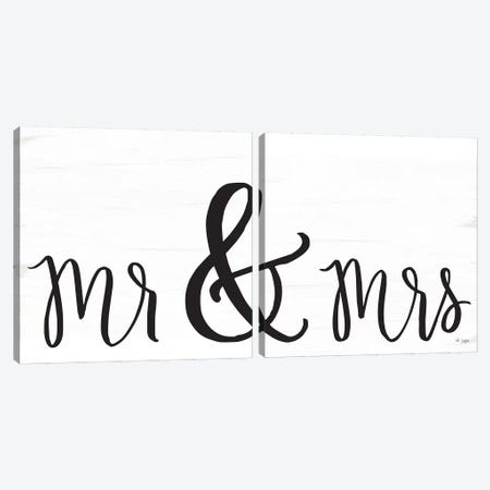 Mr. & Mrs. Canvas Print Set #JXN2HSET003} by Jaxn Blvd. Art Print