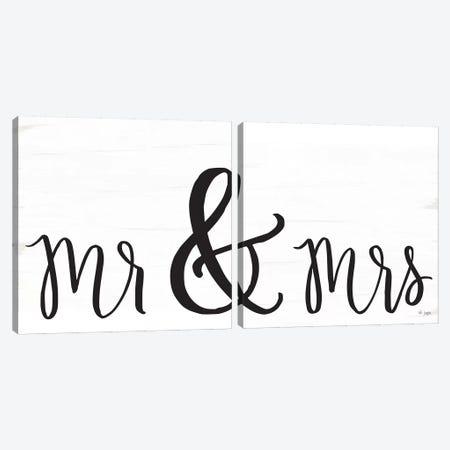 Mr. & Mrs. Canvas Print Set #JXN2HSET003} by Jaxn Blvd. Art Print