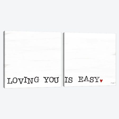 Loving You Is Easy Canvas Print Set #JXN2HSET004} by Jaxn Blvd. Canvas Art