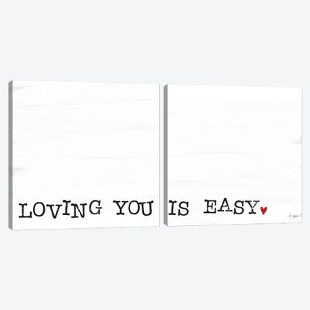 Loving You Is Easy Canvas Print Set #JXN2HSET004} by Jaxn Blvd. Canvas Art