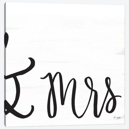 Mr. & Mrs. II Canvas Print #JXN31} by Jaxn Blvd. Canvas Print