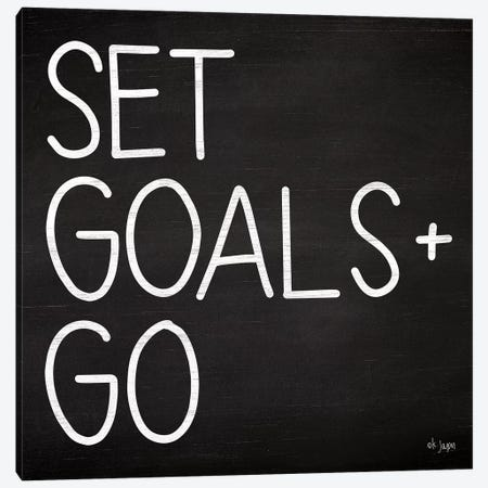 Set Goals Canvas Print #JXN36} by Jaxn Blvd. Canvas Wall Art