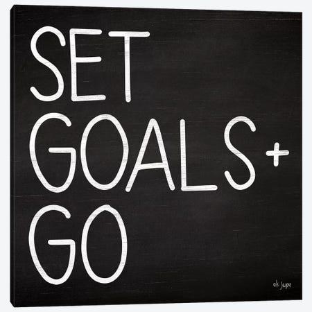 Set Goals Canvas Print #JXN36} by Jaxn Blvd. Canvas Wall Art