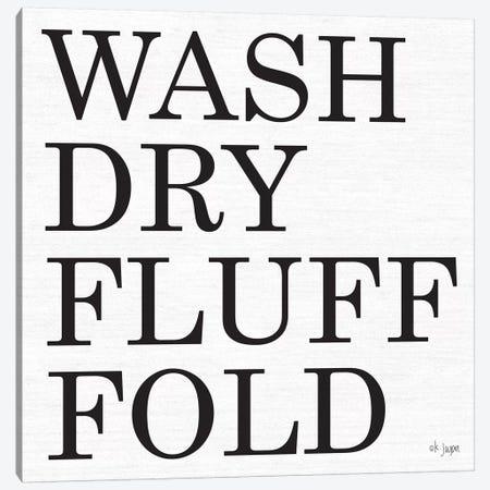 Wash-Dry-Fluff-Fold Canvas Print #JXN42} by Jaxn Blvd. Canvas Art