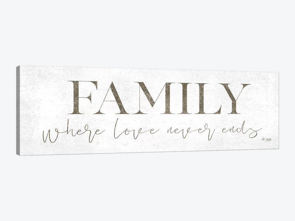 Family Where Love Never Ends by Jaxn Blvd. 1-piece Canvas Artwork