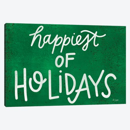 Happiest of Holidays Canvas Print #JXN87} by Jaxn Blvd. Canvas Print