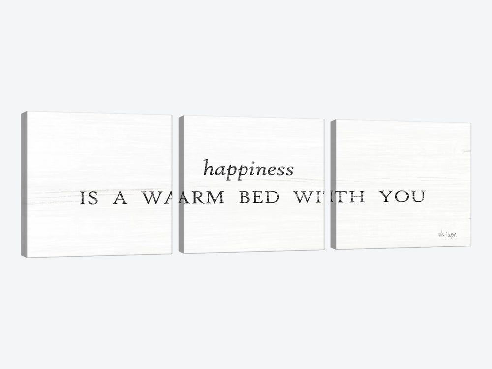 Warm Bed with You by Jaxn Blvd. 3-piece Canvas Artwork