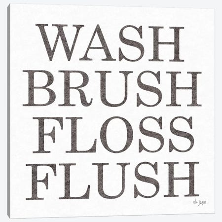 Wash Brush Floss Flush  Canvas Print #JXN93} by Jaxn Blvd. Art Print